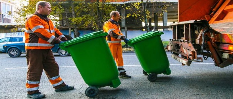 вывоз мусора слайдер