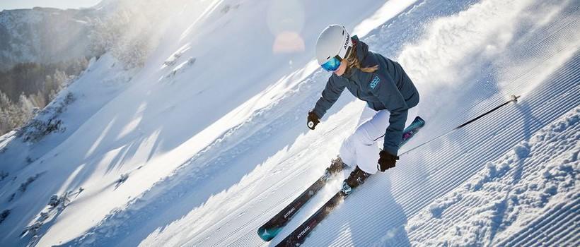 горные лыжи слайдер