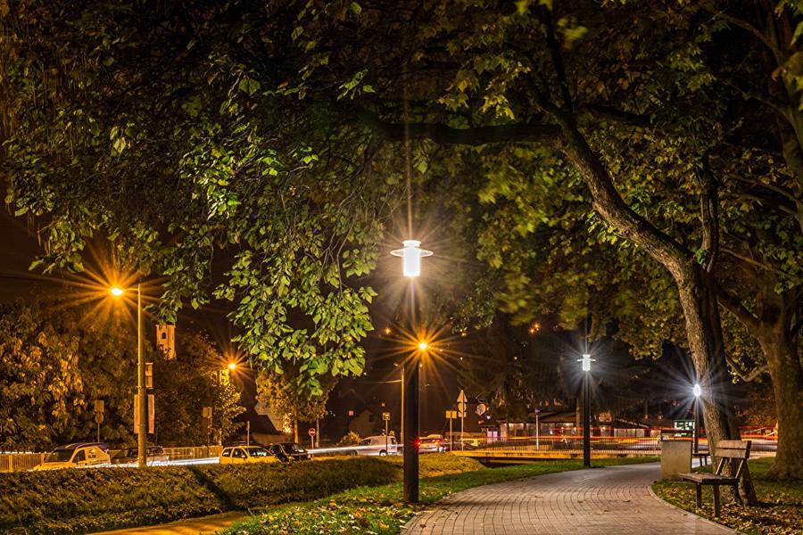 Волоколамск освещение парк