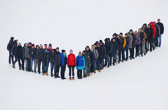 Можайск флешмоб лыжники