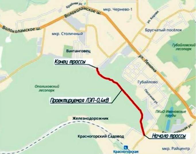 трасса лес Красногорская